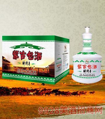 SQS046草原神骑手酒(蒙古包)46度500mlx6清香型