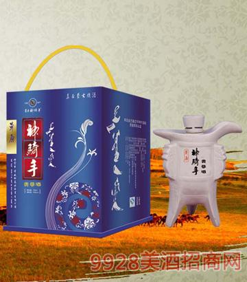 SQS043草原神骑手酒(贵尊)56度500mlx6清香型
