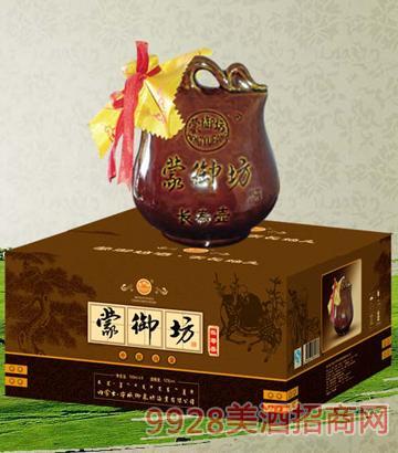 MYF005蒙御坊酒(长寿壶)52度500mlx6浓香型