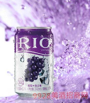 RIO 锐澳罐装葡萄味预调鸡尾酒330ML