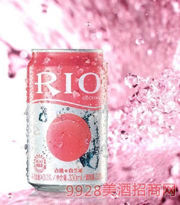 RIO 锐澳罐装白桃味鸡尾酒 预调酒330ML