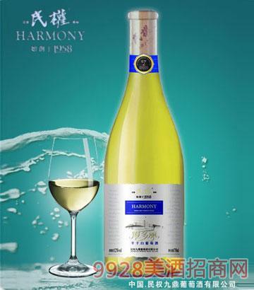 民权霞多丽半干白葡萄酒