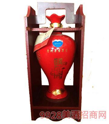 茅台国花瓷(红)酒