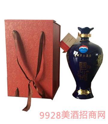 茅台国花瓷(蓝)酒