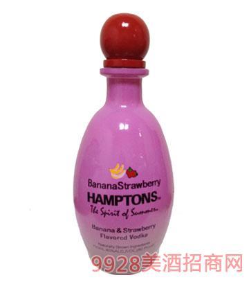 汉普顿喷喷鼻蕉草莓味伏特加