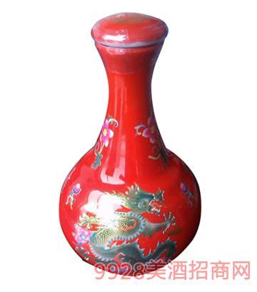 醉仙居三斤中国红瓷瓶酒