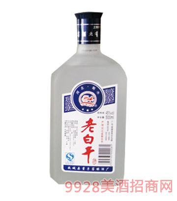 45°扁磨砂老白干500MLx12酒