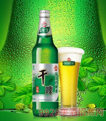 金士百精釀綠色純生干啤啤酒