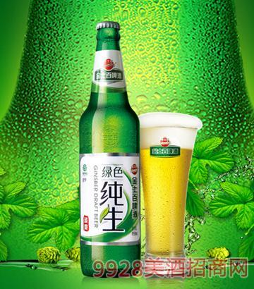 金士百綠色純生清爽啤酒