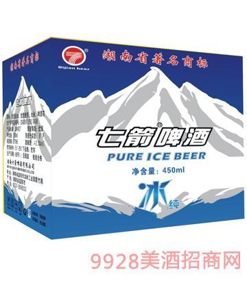 快乐七箭冰纯啤酒450ml箱