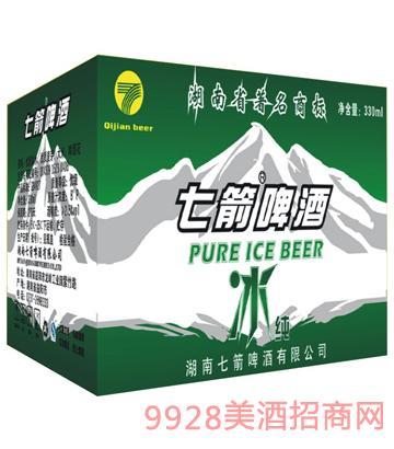 快乐七箭冰纯啤酒300ml箱