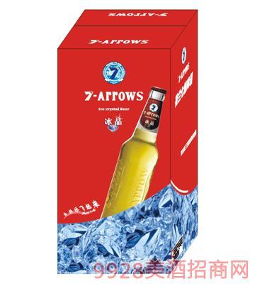荷兰七箭冰晶啤酒450ml箱