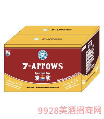 荷兰七箭冰晶啤酒300ml箱