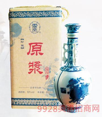 53度寿桃瓶原浆酒1000mlx4清香型