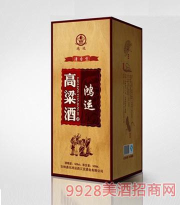 50°鸿运高粱原浆500ml 清香型酒