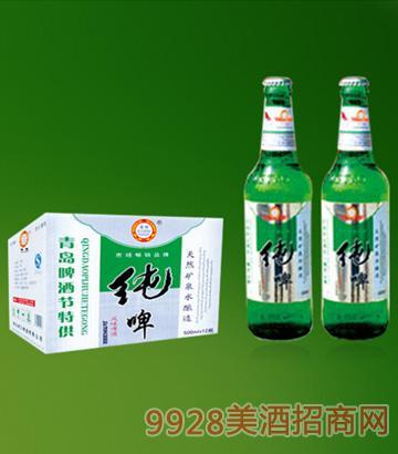500ml青岛啤酒节纯生啤酒