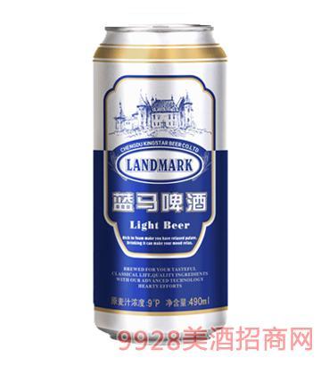 金星啤酒蓝马490ml