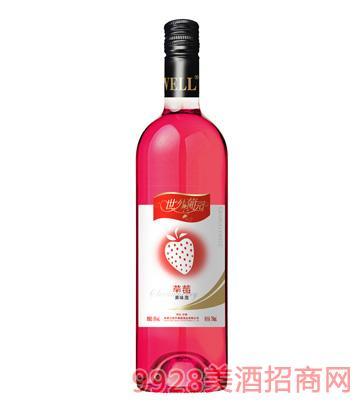 8°世外葡园草莓味果酒750ml