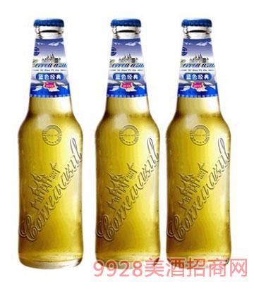 藍帶啤酒高檔浮雕瓶330ml