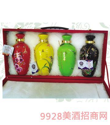 梅兰竹菊礼盒酒52°500ml