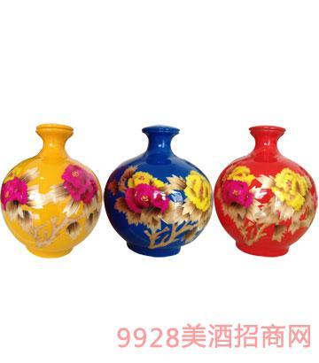 皖水坊原浆酒橙色、蓝色、红色42度浓香型
