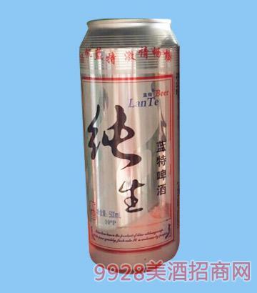 纯生蓝特啤酒