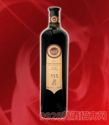 滨河国风干红黑比诺葡萄酒