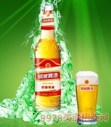 YW006-500ml中国银威啤酒-白瓶