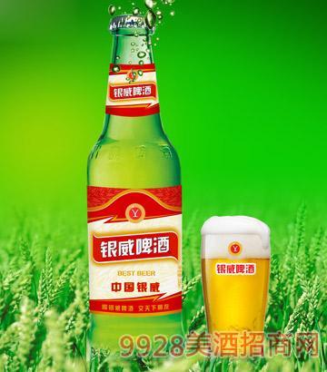 YW001-330ml中国银威啤酒-青瓶