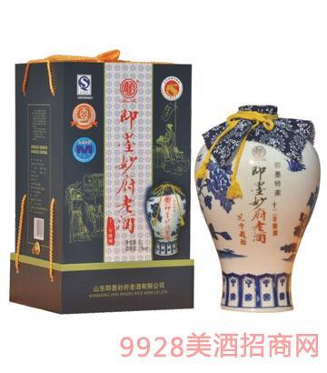 妙府老酒 青花瓷十二年陈酿老酒
