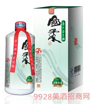 国柔(水)53°500ml 柔和酱香型酒