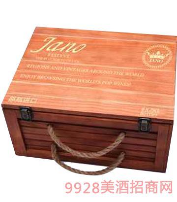 雅诺6支木箱葡萄酒12%vol750ml