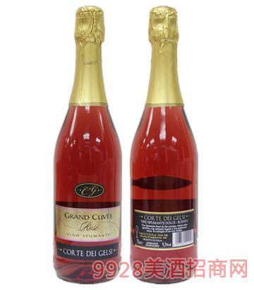 意帝浪漫玫瑰红甜起泡葡萄酒