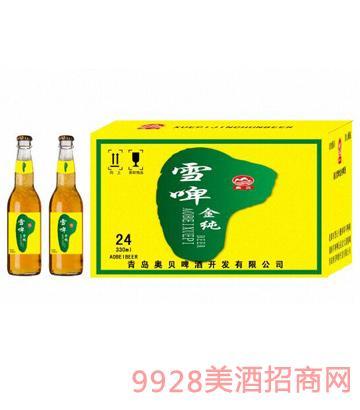 雪啤金纯啤酒1x24