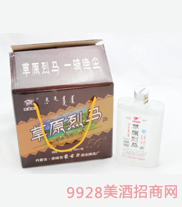 草原烈马白磨砂 1x10 200ml 56度酒