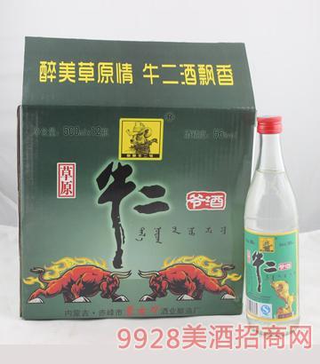 草原牛二爷玻璃瓶 500ml 1x12 56度酒