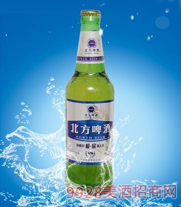500ml10度北方啤酒银色麦浪绿瓶
