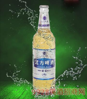 500ml10度北方啤酒银色麦浪白瓶