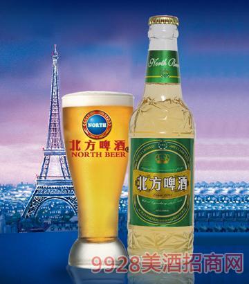 330ml北方啤酒绿色畅想白瓶绿标