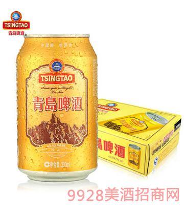 青岛啤酒崂山风景330ml