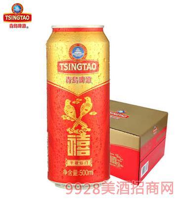 青�u啤酒禧罐500ml