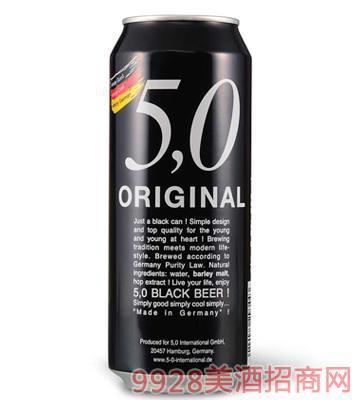德国5.0黑啤酒500ML