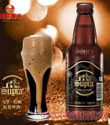 珠江啤酒雪堡精酿原浆啤酒330ml