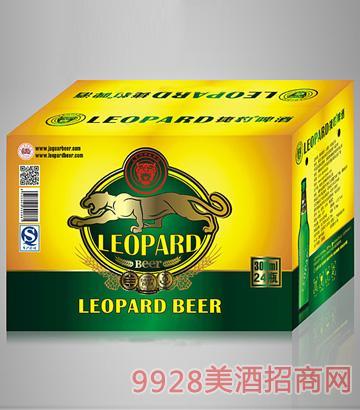 LEOPARD捷豹300ml专用瓶啤酒 24瓶装纸箱