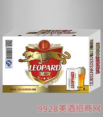美洲豹320ml易拉罐啤酒24罐装纸箱