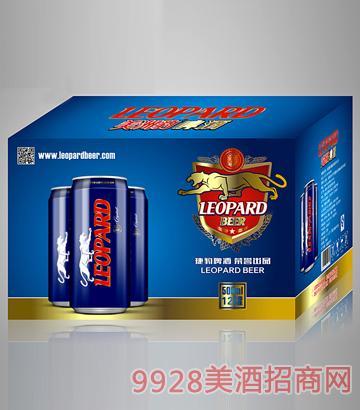美洲豹500ml易拉罐啤酒12罐装纸箱