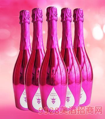 麦咖伦起泡酒香槟红色多