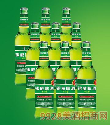 500ml银威啤酒中国梦塑包