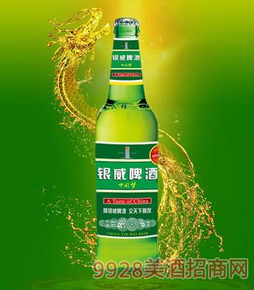 500ml银威啤酒中国梦青瓶