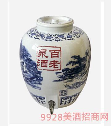 百老泉酒50斤清香瓷缸
